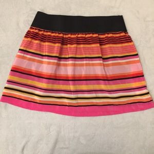 Candie's women's skirt striped pink orange black L
